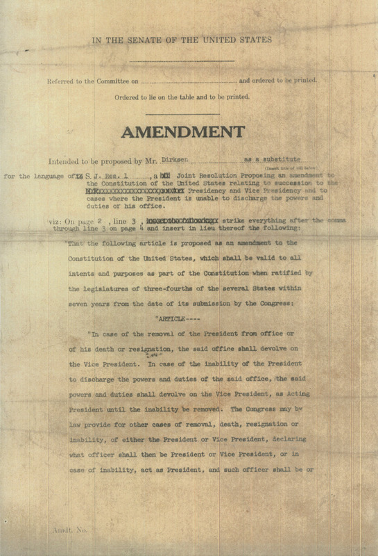 Dirksen amendment<br /><br />