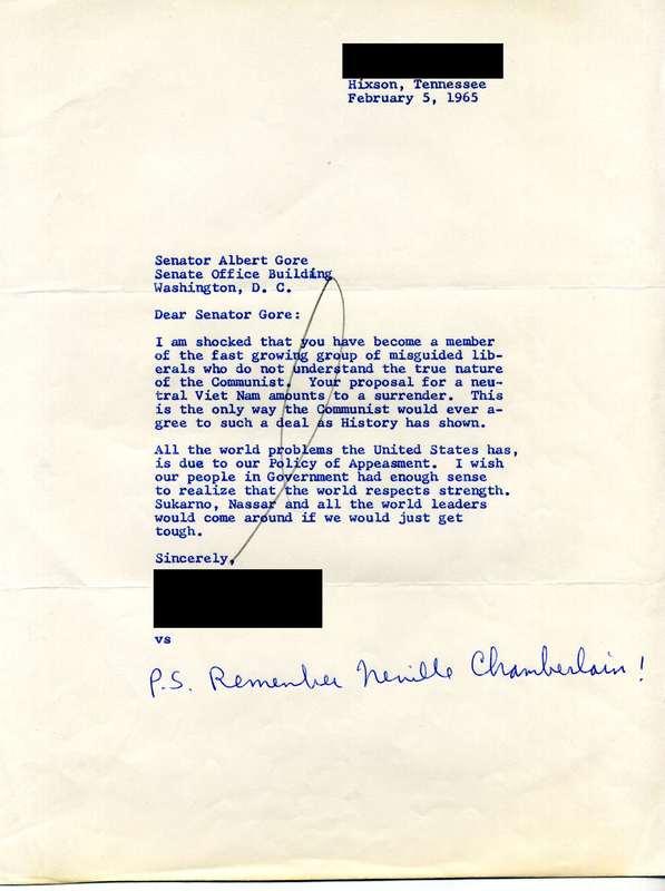 Hixson, Tennessee Resident Letter