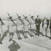 Photograph of Representative Bob Dole with Indian soldiers