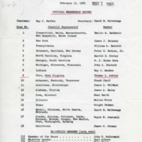 &#039;Democratic Steering Committee House of Representatives 89th Congress&#039; memo<br /><br />