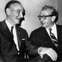 Photograph of Senators Mike Mansfield and Everett Dirksen