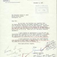 Correspondence enlisting Senator Byrd's support