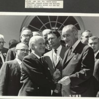 September 9, Photograph of the Bill Signing with President Johnson&lt;br /&gt;<br />