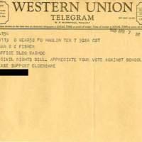 Telegram from Hamlin with Reply&lt;br /&gt;<br />