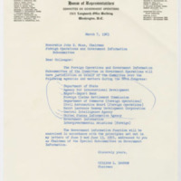 Letters from Congressman William L. Dawson to Congressman John E. Moss