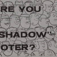 'Are you a Shadow Voter' pamphlet