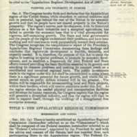 The Appalachian Regional Development Act of 1965