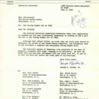 Letter from the Norfolk Christian Leadership Conference to Representative Ted Kennedy
