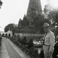 Photograph of Congressman Poage at Buddha-Gaya Temple