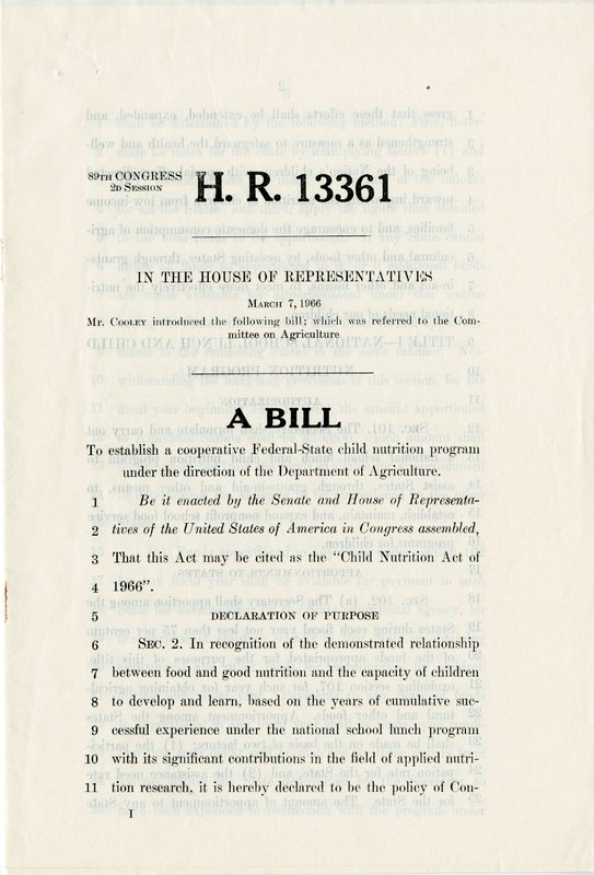 H.R. 13361, the Childhood Nutrition Act