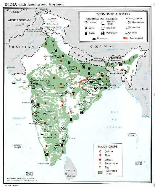 Economic Activity map of India<br /><br />