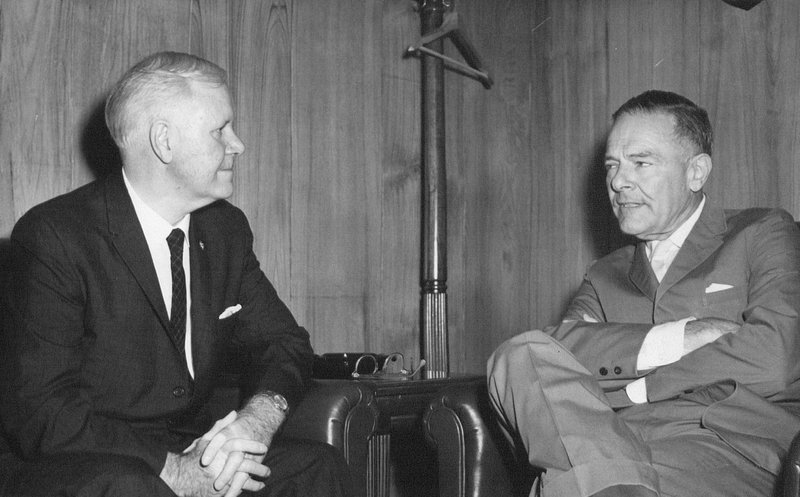 Photograph of Congressman Harley O. Staggers and Ambassador Henry Cabot Lodge, Jr.