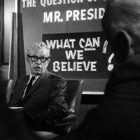 Photograph of Senator Everett Dirksen at the Joint Senate-House Republican Leadership press conference