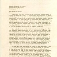 Letter from Royce S. Pitkin to Senator Winston Prouty