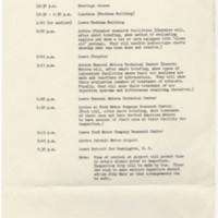 Schedule of Activities at Detroit<br />