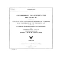 Amendments to the Administrative Procedure Act committee print