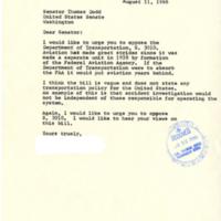 Letter from constituent to Senator Dodd<br /><br />