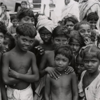 Photograph of a group of South Indian children<br /><br />
